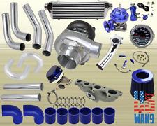 Accord/Prelude Si Se H23 F22A Turbocharger Turbo Kit Blue+Manifold+Bov+Wg+Gauge