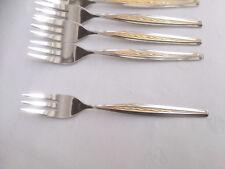 mehrere WMF Odeon Cromargan Gold Besteck 6 Kuchengabeln 16 cm Neuwertig