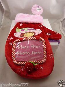 Strawberry Straw berry shortcake Christmas Stocking mitten room for photo