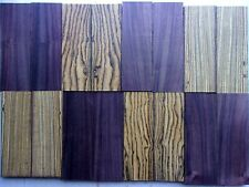 EXOTIC WOOD KNIFE SCALES HANDLES 8 SETS -BOCOTE,INDIA ROSEWOOD- ALL TOP QUALITY