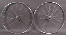 """Sun CR18 27"""" Silver Rims Fixed Gear Singlespeed Wheelset Wheels fit Vintage Bike"""