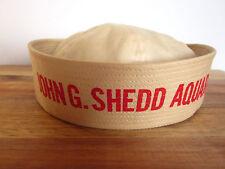 """Vintage John G Shedd Aquarium Sailor Hat Chicago Souvenir Cotton Childs Small 7"""""""