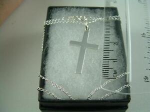 Hallmark 925 sterling silver cross chain 20ins new in box.