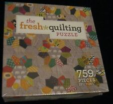 THE FRESH QUILTING QUILT PUZZLE 759 PIECE INTERWEAVE MALKA DUBRASWSKY NEW! M-26