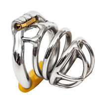 USA SHIP S051 Stainless Steel Male Chastity Cage Device- Large Ring