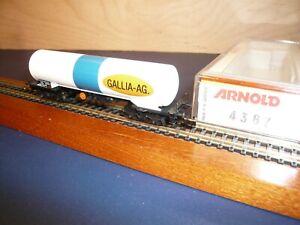 Arnold 4367 Gaskesselwagen GALLIA-AG  - 8 - achsig neuwertiges Vitrinenmodell