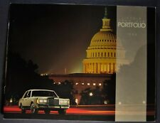 1988 Lincoln Town Car Catalog Brochure Signature Series, Cartier, Limousine 88