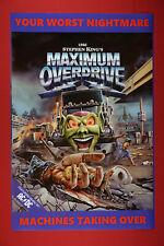 Maximum Overdrive Your Worst Nightmare Machines Art Movie Poster 24X36 New Maxo
