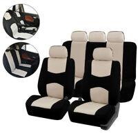 9pcs Set Car Universal Auto Front Seat Cover Automotive Seat Covers Beige