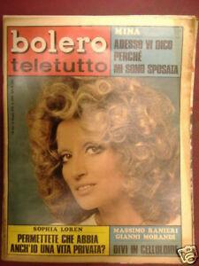 MINA BOLERO TELETUTTO 10 MAGGIO 1970 n°1202