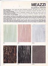 VINTAGE AD SHEET #3052 - 1960s MEAZZI DRUM COLORS