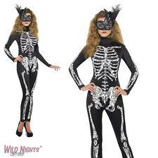 Halloween Fancy Dress # Ladies Fever Soleil Skeleton Costume Size 8-18