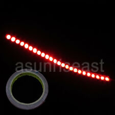 10X Car Red 24cm 24LED PVC Flexible LED Strip Light + Double Faced Adhesive Tape