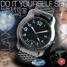 DO IT YOURSELF SET:CASE 32MM+DIAL+HANDS+ST.ST.BAND+MOVEMENT ETA 955.112/ILLUM 3