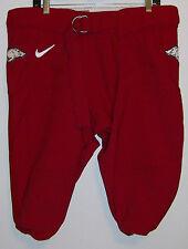 Arkansas Razorbacks Nike Game Worn Football Pants Red White  Hog Swoosh Size 48