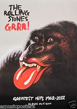 """THE ROLLING STONES """"GRRR!"""" SMALL THAILAND PROMO POSTER - Sexy Gorilla With Lips!"""