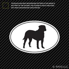 Bullmastiff Euro Oval Sticker Die Cut Decal Self Adhesive Vinyl dog canine pet