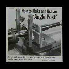 Angle Post How-To build Plans Metal Lathe Milling Attachment