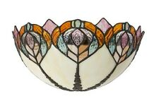 Applique in stile Tiffany vetro Plafoniera da muro Stile Liberty panna rosa