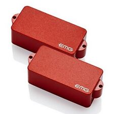 EMG-P Active P/Precision Bass Pickups Set Red, Solderless