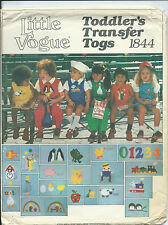 Vogue 1844 sewing pattern JUMPER JUMPSUIT BLOOMERS BLOUSE SHIRT sew 20 transfers