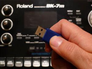 usb pen drive 8000 styles + karaoke midi songs for Roland Bk5 bk3 BK9 bk7 BK7m