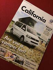 VOLKSWAGEN CALIFORNIA listino prezzi T5-VW FURGONI-Settembre 2011-Nuovo di zecca