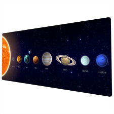 90x40cm Extra Large Xxl Mouse Pad Mat Full Desk Colourful Solar System Planets