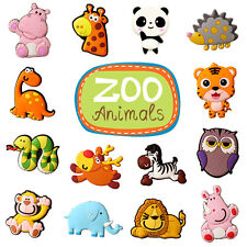 10Pcs Kids Cartoon Wild Zoo Animals Fridge Magnet Teaching Toys Children's Gifts