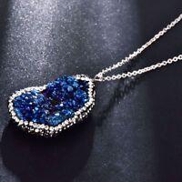 Naturstein unregelmäßigen Quarz Kristall Herkunft Anhänger Halskette Schmuck