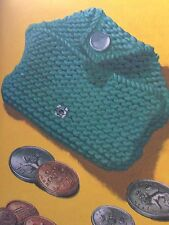 Beginners Easy Knit Purse For Your Pocket Money Knitting Pattern
