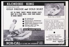 1961 Klondike King gold dredge and boat photo vintage print ad