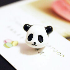 Fashion Korean Style Full 3D Solid Face Black white Panda Stud Earring animal q