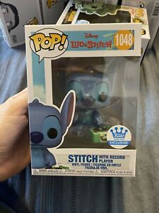 Funko Pop Disney Stitch With Record Player 1048 Vinyl Figure Lilo & Stitch