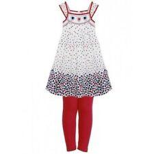 Vestidos de niña de 2 a 16 años de color principal rojo 100% algodón