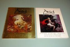 2 Books ARIEL FANTASY SCIENCE FICTION Frazetta Bruce Jones Ellison Ray Bradbury