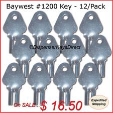 Baywest #1200 Dispenser Key for Paper Towel, Toilet Tissue Dispensers - (12/pk.)
