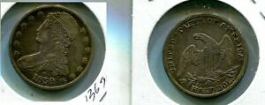 1839 O CAPPED BUST SILVER HALF DOLLAR TYPE COIN XF VERY RARE 1369P