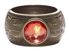 Sublime Bronze Detail & Orange Diamond Circle/Click On Hand Bangle(Ns13)