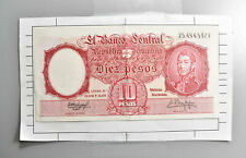CrazieM World Bank Note - 1954 Argentina 10 Pesos - Collection Lot m445