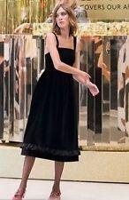 ARCHIVE BY ALEXA CHUNG Vicar Black Dress UK 8 Velvet Retro Pinafore Vintage M&S