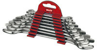 VALEX 8PZ SET CHIAVI FORCHETTA DOPPIA INCLINATE 15° MISURA SERIE 6x7MM 20x22MM