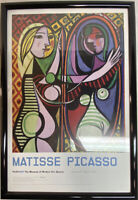 Matisse Picasso Framed MOMA print. Modern Acrylic Black Frame (glass).