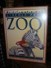 ZOO Lincoln Park Fine Arts Poster Chicago 1980s Animal Friends