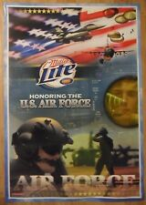 Miller Beer Poster ~ Usaf United States Us Air Force Military Paratroopers Jets
