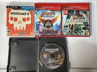 PS3 Game Bundle 4 Games - Resistance, Ratchet Clank, Uncharted, Warhawk