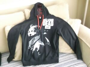 The Walking Dead Daryl Dixon Hoodie Sweater Size Small Black Long Sleeve Zip Up