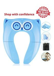 Travel Portable Folding Potty Training Toilet Seat Cover Babies Toddlers Kids