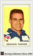 RARE -1965 VFL Scanlens Card #22 Graham Farmer (Geelong)-Excel to Near Mint