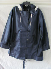 J.Crew Resin Coated Twill/Nylon Jacket with Hood-Rich Navy-Women's 2XL -NWT $230